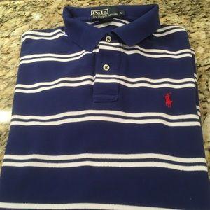 Polo Ralph Lauren Blue Striped Polo